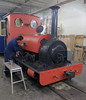 Elidir being painted. (ohefin) Tags: red lake black wales north shed leeds january railway loco tourist owen slate llanberis now nigel quarry built 1889 2016 hunslet hefin orritt exdinorwic