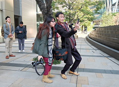"""good take!"" (hugo poon - one day in my life) Tags: japan tokyo fujifilm companions selfie 14mm xt1 tokyomidtown fujifilmsquare digitalrev lokcheung"