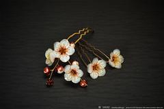 2016    Prunus mume 05 ( sakae) Tags: hair out pin time cnn ornaments kimono resin sakae  prunus      kanzashi     mume             chromavision interbee2015