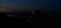 M40 (Testigo Indirecto) Tags: madrid city blue cars night buildings noche movement twilight stream nightshot traffic ciudad panoramic calm trfico coches m40 crepsculo