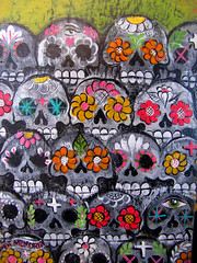 Day of the Dead Folk Art (shaire productions) Tags: art face dayofthedead skull design photo image folk decorative decoration picture mexican photograph horror diadelosmuertos muertos imagery sugarskull