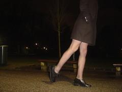 Walking around in Suspenders... (h_lover1984) Tags: man black stockings night high highheels legs coat leg tights hidden heels mann suspenders