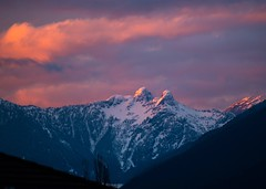 Tonight's colourful sunset over the Lions (Spencer Finlay) Tags: sunset mountains vancouver pacificnorthwest northvancouver pinksky thelions beautifulbc vancouverisawesome explorecanada vancitybuzz photos604