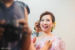 Brides smiles