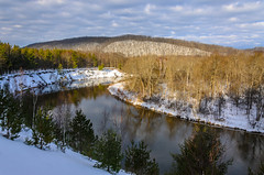 Morning Break (Aaron Springer) Tags: trees winter snow nature forest sunrise woodland landscape outdoor michigan february northernmichigan manisteeriver peremarquettestateforest