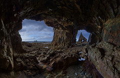 Looking from the inside (alexxdarkside) Tags: spain asturias espana cave biscay