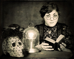 The Time Traveller [5/52] (Jam-Gloom) Tags: portrait selfportrait wet bulb photoshop portraits self vintage project studio skull glasses bell 5 five digitalart 1800s victorian plate olympus retro nostalgia portraiture victoriana jar bible wetplate week process 1850s spectacles selfportraiture edison 52 omd steampunk vanitas 1890s week5 backintime timetraveller collodion weekfive 52weeks em5 studioportraiture project52 52weekproject victorianna collodionwetplate collodionwetplateprocess olympusomd olympusomdem5