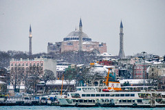 Hagia Sophia (pchmck) Tags: city winter white snow cold building ice church architecture mosque dome musem 500px ifttt