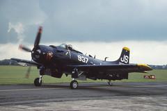Skyraider (Pentakrom) Tags: us navy duxford 1992 douglas a4 iwm skyraider fazed