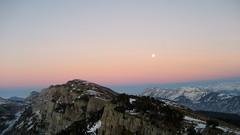 Mond - Moon ber dem Burgfeldstand ( BE - 2`063m - 4x ) in den Berner Alpen - Alps im Berner Oberland im Kanton Bern der Schweiz (chrchr_75) Tags: hurni070201 christoph hurni schweiz suisse switzerland svizzera suissa swiss chrchr chrchr75 chrigu chriguhurni chriguhurnibluemailch februar 2007 kantonbern berner oberland berneroberland mond moon luna  lune