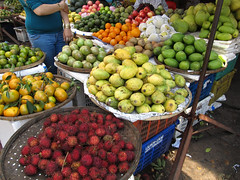 "Hoi An: des ramboutans (ou litchis chevelus) <a style=""margin-left:10px; font-size:0.8em;"" href=""http://www.flickr.com/photos/127723101@N04/24789357765/"" target=""_blank"">@flickr</a>"