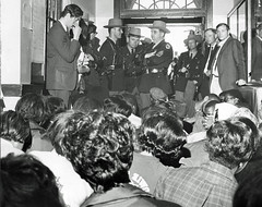 Bowie State College students stage sit-in: 1968 (washington_area_spark) Tags: plant black college campus bowie student state african rally poor protest maryland demonstration american but 1968 arrest physical equal conditions separate sitin occupy historically unequal studyin