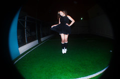 Jump! (TheJennire) Tags: camera light portrait people luz fashion socks night self canon hair cores lens photography noche photo jump movement shoes colours foto dress young style colores fisheye teen indie noite fotografia camara cabelo pelo cabello tumblr
