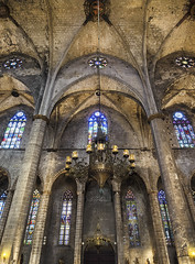 Holy light (Paco CT) Tags: barcelona church window architecture ventana spain construction arquitectura interior gothic iglesia indoor structure construccion inside esp contrapicado lowangle gotico 2016 santamariadelmar barcelonasantamariadelmar pacoct elementoconstructivo