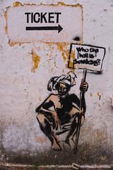 Who the hell is Bomsky? (pranav_seth) Tags: india streetart kerala cochin kochi fortkochi godsowncountry