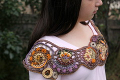 Freeform Shrug (laughingpurplegoldfish) Tags: crochet creative cotton swap shrug freeform mapstone