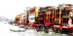 Grande canal (wash) (10000 wishes) Tags: venice italy art beautiful landscape landmark colourful venezia travelphotography