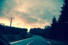 ROAD TO TWIN PEAKS (Phil3 (ex Bassapower)) Tags: road winter light sky snow bike pine sunrise twinpeaks neige ontheroad pinetrees correze bikeroad hivers phil3 bassapower routesdefrance