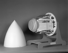 Atlas Negative Collection Image (San Diego Air & Space Museum Archives) Tags: mockup radar cruisemissile tomahawk radome tfr nosecone terse tomahawkcruisemissile tomahawkmissile terrainfollowingradar