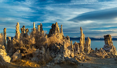 Great Things in the Valley (docoverachiever) Tags: california lake water rock sunrise landscape scenery formation monolake alkaline volcanic tufa saline spikes challengeyouwinner