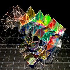 3m dichroic film (mike.tanis) Tags: art film architecture design origami surface kirigami form dichroic