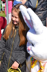Brooke And The Easter Bunny (Joe Shlabotnik) Tags: brooke easterbunny 2016 wstc afsdxvrzoomnikkor18105mmf3556ged march2016