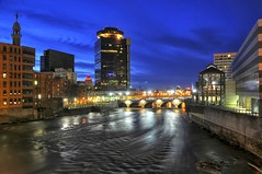 Rochester After Dark (maryshelsby) Tags: urban usa newyork downtown centercity rochester citylights conventioncenter nightview geneseeriver
