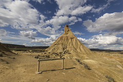 Bardenas (JorgedCPhotography) Tags: sky naturaleza nature clouds self mirror desert bardenas bardenasreales
