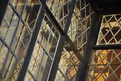 DSC_8449 [ps] - Early Laser (Anyhoo) Tags: uk shadow england black reflection window glass architecture wooden timber surrey diamond leaded windowframe wisley rhswisley glazing lowsun rhs royalhorticulturalsociety leadedlight thelaboratory anyhoo photobyanyhoo
