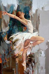 """Ballerina"" Original Oil Painting by Artist: Mahnoor (how2sketch) Tags: art painting sketch drawing paintings sketching drawings"
