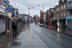 Camden High Street (Gary Kinsman) Tags: christmas london wet architecture clouds grey quiet camden empty overcast desolate camdentown christmasday urbanlandscape nw1 2015 camdenhighstreet topographics canon35mmf2 newtopographics canoneos5dmarkii canon5dmkii