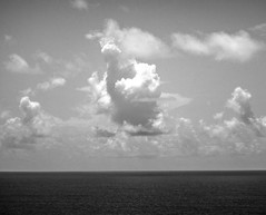 3 thumbs up!!! (-gregg-) Tags: ocean cruise bw water clouds