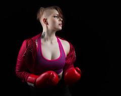 Power (Barry_Madden) Tags: tattoo female portraits model power photoshoot boxer shorthair inside fitness youngwoman homestudio finnishwoman lauran mma finnishgirl inkedgirl portraits2016