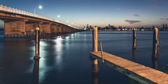 Forster/Tuncurry Bridge ('whitewithone) Tags: longexposure bridge sunset sky water clouds jetty au australia greatlakes wharf nsw newsouthwales forster tuncurry wallislake canonef1740mmf4l canoneos6d wallislakebridge greatlakesnsw whitewithonenet