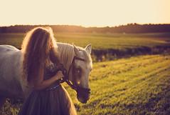 dream (heidel-art) Tags: light summer portrait horse woman sunlight beauty wonderful outside women shoot outdoor portrt portraiture flare shooting tier