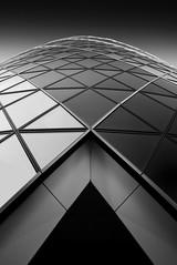 G2 (fjnige) Tags: blackandwhite building glass monochrome architecture triangles nikon sigma gherkin d7100