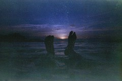 (ystein Aspelund) Tags: camera sunset summer film feet swimming 35mm underwater negro stefan monte balkans expired adriatic montenegro sveti balkanstyle