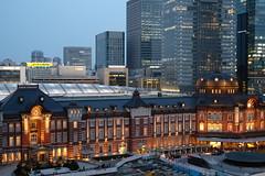 ISO 100 (HAMACHI!) Tags: station japan architecture night 35mm landscape tokyo nightscape iso fujifilm nightscene comparison tokyostation 2016 xpro2 xf35mmf2rwr fujifilmxpro2