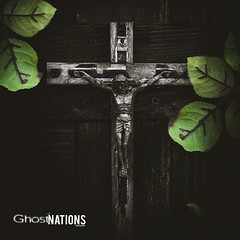 Death Among The Ivy (Ghost Of Nations Photography And Digital Art) Tags: green grave dark gloomy christ headstone gothic crucifix disturbing liminal disquiet newgothic unsetting ghostofnations ghostofnationsphotography