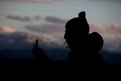 Silhouette (ramosblancor) Tags: travel sunset portrait mountain silhouette atardecer phone dusk perfil retrato profile cellphone asturias telfono silueta montaa humans mvil viajar humanos
