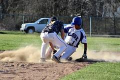 PLAY AT THIRD (MIKECNY) Tags: baseball slide highschool lasalle dust defense cohoes thirdbase