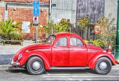 The Christchurch Wizards two fronted Car (TriPodRoD) Tags: street city newzealand 2 christchurch two car vw volkswagen island wizard south beetle canterbury southisland cbd citycentre volkswagenbeetle newregentstreet
