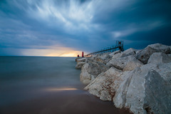 The Calm Before the Storm (randyr photography) Tags: longexposure storm haven west pier michigan grand lakemichigan puremichigan westmichiganphotographer leebigstopper