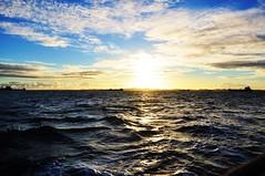 so far away... (Ruby Ferreira ) Tags: sunset brazil brasil boats bay barcos prdosol ripples tug rebocador salvadorba baadetodosossantos southeastbrazilian