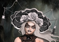 Masquerade mask (Anita Armendaiz) Tags: life black fashion garden hair box head makeup fair fantasy pixel second exile gacha astralia applier ysys lelutka