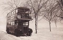 London transport RT908 on route 93 Wimbledon Common 1962. (Ledlon89) Tags: bus london buses transport rt lt londonbus londonbuses vintagebuses lte aecregent rtbus