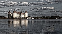 Schloss Moritzburg (scuthography) Tags: red water clouds sandstone awesome saxony schloss moritzburg canon6d scuthography
