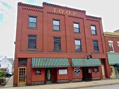 Odd Fellows Building, Latrobe, PA (Robby Virus) Tags: building brick temple cafe pennsylvania lodge odd hunger end fellows latrobe ioof