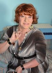 Just A Woman (Laurette Victoria) Tags: woman necklace dress redhead laurette