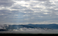 morning fog on the way to pamukkale (3) (kexi) Tags: morning wallpaper sky mountains fog clouds canon turkey may layers sunray 2015 instantfave